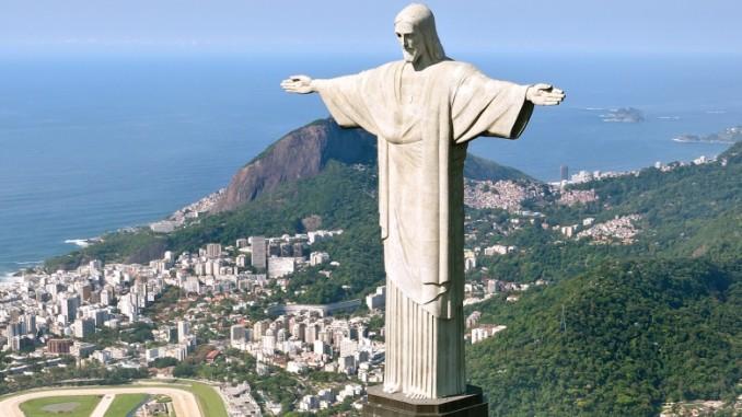 Cristo Redentor Ist Das Wahrzeichen Von Rio De Janeiro